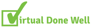 Virtual Done Well Logo