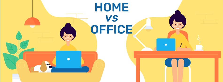 Work from home versus office-based
